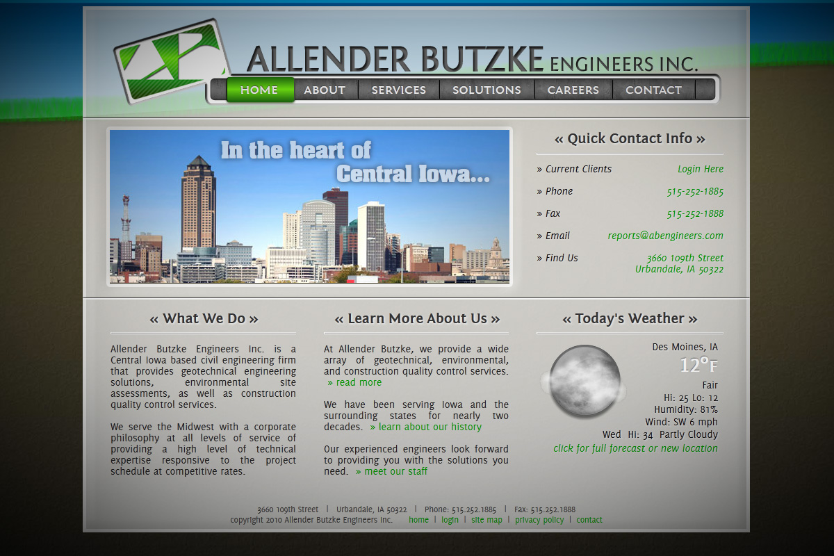 Allender Butzke Engineers - Website