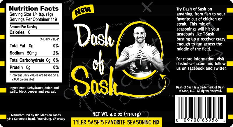 Dash of Sash Product Label